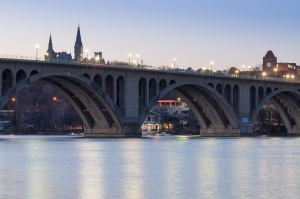 Key Bridge crossing the Potomac River at Georgetown.