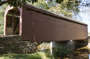 Covered Bridge in Frederick County Maryland USA