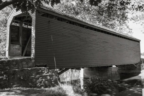 Black and White Covered Bridge in Frederick County Maryland USA