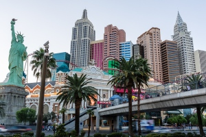 Shot in the late afternoon from the MGM Hotel & Casino Sidewalk.