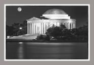 Thomas Jefferson Monument at dusk