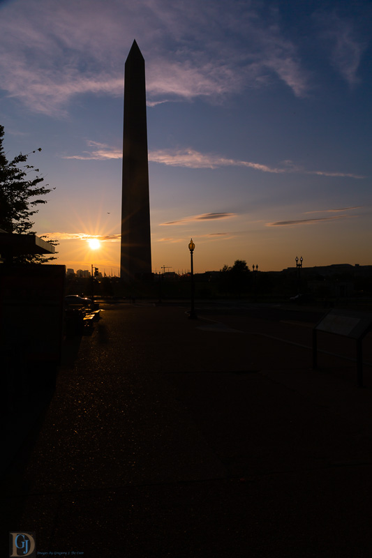 Washington Monument in Evening-7311