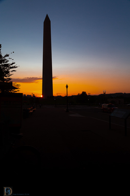 Washington Monument in Evening-7326