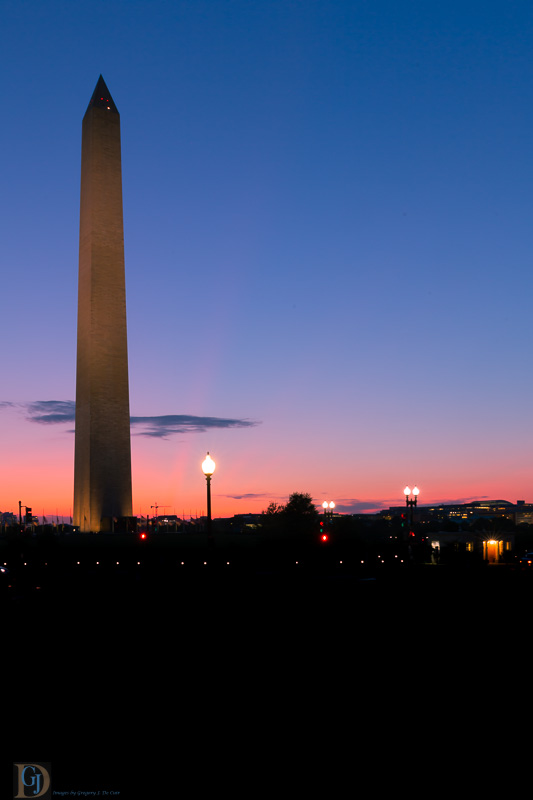 Washington Monument in Evening-7407